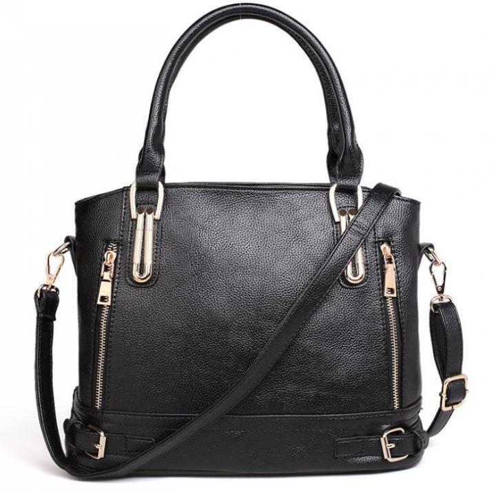 European Hot Selling Luxury Fashion Women Single Shoulder Bags Leather Handbags black one size