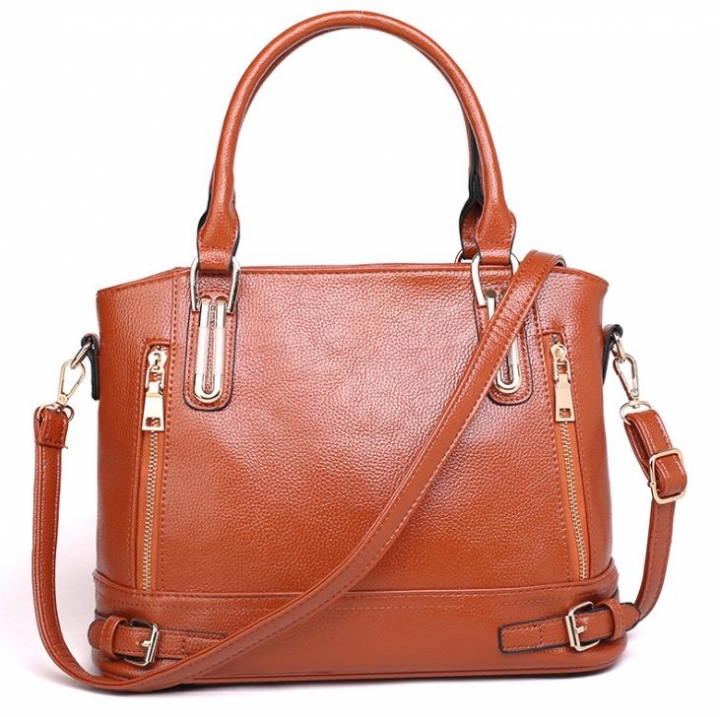 European Hot Selling Luxury Fashion Women Single Shoulder Bags Leather Handbags brown one size