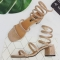 fashion women's snake-shaped winding shoes rhinestone female Rome sandals pink euro 38