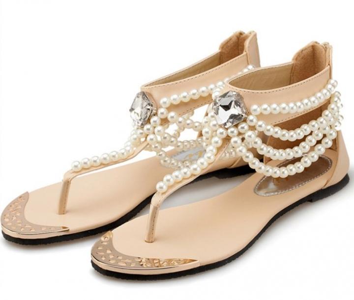 dcd1fdfb344c12 tassel flat heel leisure thong sandals apricot 39 release info on b7dcd  9a8b6
