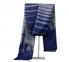 Fashion cashmere thick warmly men's scarves autumn winter plaid scarf shawls grey