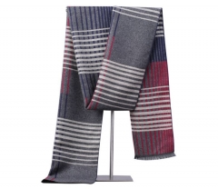 New fashion winter long warm men's scarves striped cashmere thickening casual business scarf shawls blue one size