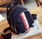 Fashion shoulder bag Oxford cloth shell backpack female travel leisure nylon shoulder bags red-white stripe one size