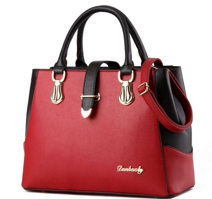 European fashion luxury female single shoulder bags top leather handbags burgundy one size