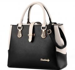 European fashion luxury female single shoulder bags top leather handbags black one size