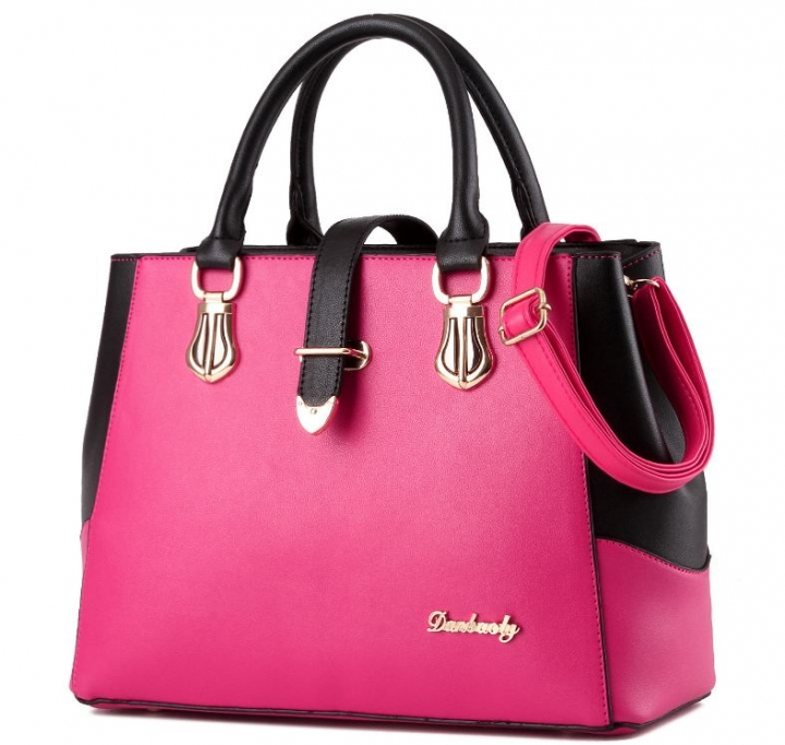 European fashion luxury female single shoulder bags top leather handbags rose one size
