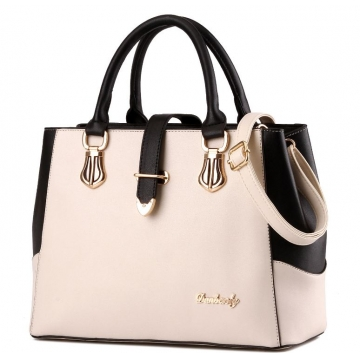 European fashion luxury female single shoulder bags top leather handbags white one size