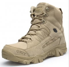 Fashion men high-cut outdoor mountaineering desert combat tactical short military boots shoes sandy euro 40