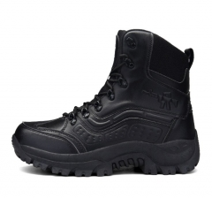 Large size fashion men male high-cut outdoor mountaineering tactical military short boots shoes black euro 39