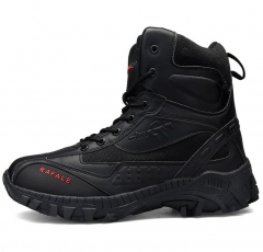 New style fashion male men large size high-cut lace-up wear-resistant military short boots shoes black euro 39