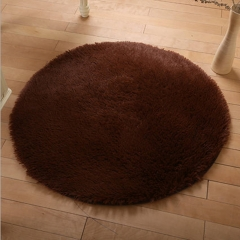 ISEEN Brand Indoor Circle Design Modern Area Rugs Fluffy Living Room Carpets Suitable for Home Coffee 80cm-80cm-4.5cm
