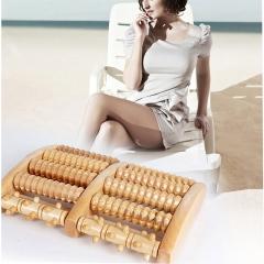 ISEEN Brand Manual Foot Massages, Wooden Roller Type Health Care Stress Relief Equipment wooden