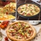 2 Pieces Pizza Pan Non-Stick 9 Inch/25CM Round Pizzas Pie Loaf Muffin Tray Carbon Steels Pan black 9inch