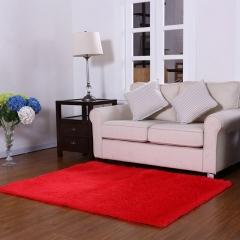 ISEEN Brand Home Decorator Modern Shag Area Rugs /Door Mat/ Carpet Super soft for Living Room Red 60-90