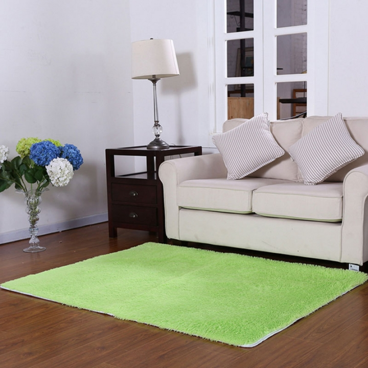 ISEEN Brand Home Decorator Modern Shag Area Rugs /Door Mat/ Carpet Super soft for Living Room Green 60-90