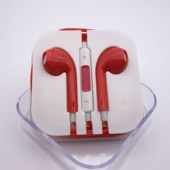 ISEEN Brand earphones with Microphone Stereo Red