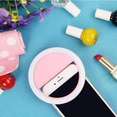ISEEN Brand Clip-on LED Camera Light,3-Level Adjustable Brightness Light for smart phone Pink 9*9*4