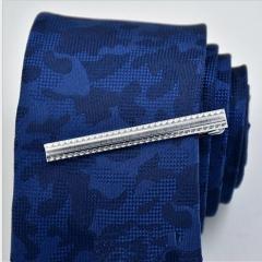 ISEEN Brand Luxury Men's Tie Bar Pinch Clip with Gift Box a 6.5cm*0.5cm*2cm