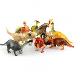 ISEEN Brand 12 Pieces/Set Educational Dinosaur Toys multicolour 16.5cm-4.2cm-8.5cm