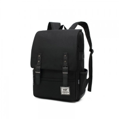 ISEEN Brand Canvas Business Laptop Backpack, Slim Anti Theft Computer Bag,  College School Backpack black 39cm*42cm*5cm