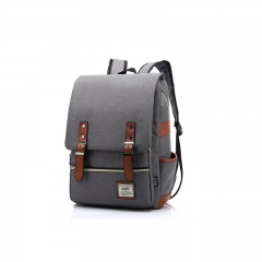 ISEEN Brand Business Laptop Backpack, Slim Anti Theft Computer Bag, College School Backpack Light Grey 39cm*42cm*5cm