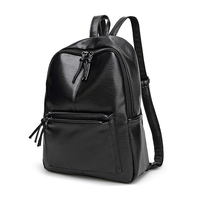 ISEEN Brand Backpack for Girls Office Lady and Women black 26cm-10cm-34cm