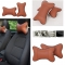 ISEEN Brand 2PCS Car Neck Pillow Rest Pillow Pad Cushion Brown Colour