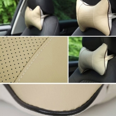 ISEEN Brand 2PCS Car Neck Pillow Rest Pillow Pad Cushion Beige Colour