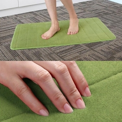 ISEEN Brand Memory Foam Coral Velvet Rug/carpet for home, Anti-water and Strong water absorbing green 50-80