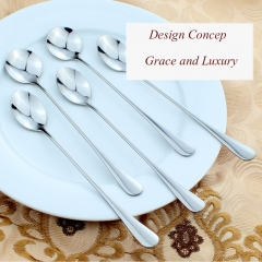 ISEEN Brand 4 Piece Stainless Steel (two pieces Forks, Two pieces Spoons) Flatware Set silver