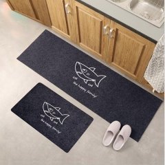 ISEEN Brand 40cm*60cm and 40cm*120cm/a set carpet for kitchen, anti-slipped shark pattern 40cm-60cm&40cm*120cm