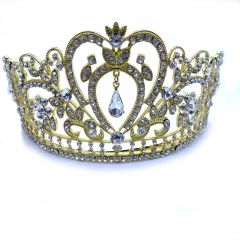 ISEEN Brand Women's Prom and Wedding Queen Crystal Crown for Bride Wedding