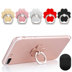 ISEEN Brand Phone grip stand Ring plus a hook  for phone,different figure selection and color random random delivery four leaf clover