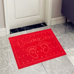 ISEEN Brand Doormat Entrance Rug Indoor/Outdoor Door Shoe Scraper Entryway,Garage and Laundry Room red 50cm-80cm