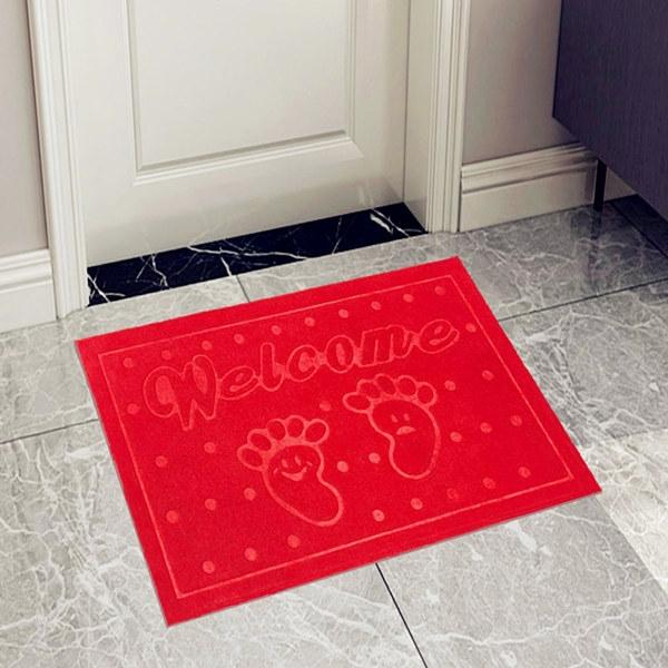 ISEEN Brand Doormat Entrance Rug Indoor/Outdoor Door Shoe Scraper Entryway,Garage and Laundry Room red 40cm*60cm