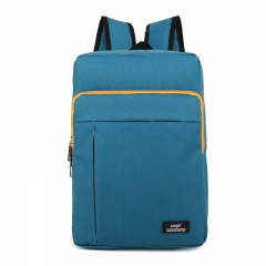 ISEEN Brand Canvas College Students Fits Laptop and Notebook Canvas Backpacks  for Outdoor Camping peacock blue 30cm(l)*10cm(w)*40cm(h)