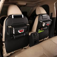 ISEEN Brand Two Pieces Car Back Seat Organizer,Hanging Bottle Holder Travel Storage Bag Box Case