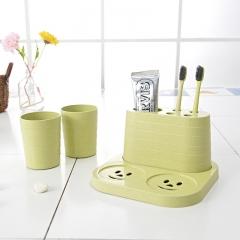 ISEEN Brand Toothbrush Toothpaste Holder Stand for Bathroom Storage Organizer green 18cm*18cm*10cm