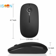 ISEEN Brand Wireless Mouse with Nano Receiver, Noiseless and Silent Click with 1600DPI black 120mm*66mm*36mm