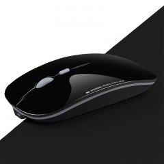 ISEEN Brand Slim Rechargeable Bluetooth Wireless Mouse 800/1200/1600DPI Portable for white clerk light black 112mm*58mm*26mm