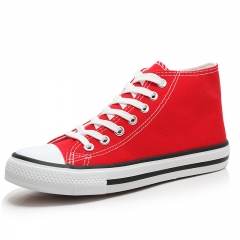 ISEEN Brand Womens Fashion Canvas Sneaker high Cut Lace red 39