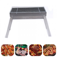 ISEEN Brand Stainless Steel Folding Portable Lightweight BBQ Tools for Outdoor Cooking Camping