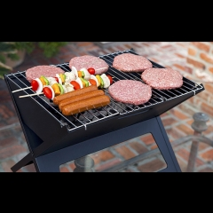 ISEEN Brand X shape Charcoal Grill for BBQ Stainless Steel Folding Portable BBQ Tool Kits