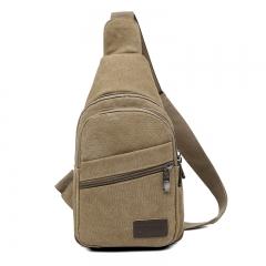 ISEEN Brand Sling Bag Pack, Chest Shoulder Cross-body for Hiking Backpack Sport Bicycle khaki 17cm*9cm*30cm