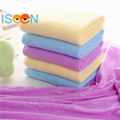 2-5 Pieces ISEEN Brand Quick-drying towel 35*75cm Absorbent Microfiber Bath Towel 2 pieces random colour 35cm-75cm