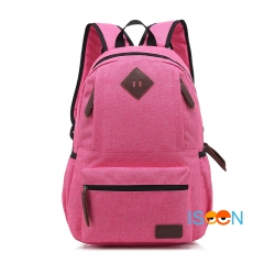 ISEEN Brand  Canvas College Students Fits Laptop and Notebook Backpacks Rucksack for Outdoor Camping Watermelon Red 30cm(l)*16cm(w)*46cm(h)