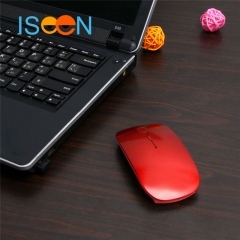 ISEEN Brand Wireless Mouse for Office Work Red 11cm-6cm-2cm
