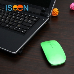 ISEEN Brand Wireless Mouse for Office Work green 11cm-6cm-2cm