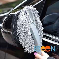 ISEEN Brand Premium Handheld Cleaning Brush Auto Detailing Waxing Car Wash Brush Car Body grey 30cm*11cm*5cm