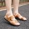 ISEEN Brand Men's Open Toe Casual Comfort Shoes Sandals Brown 42
